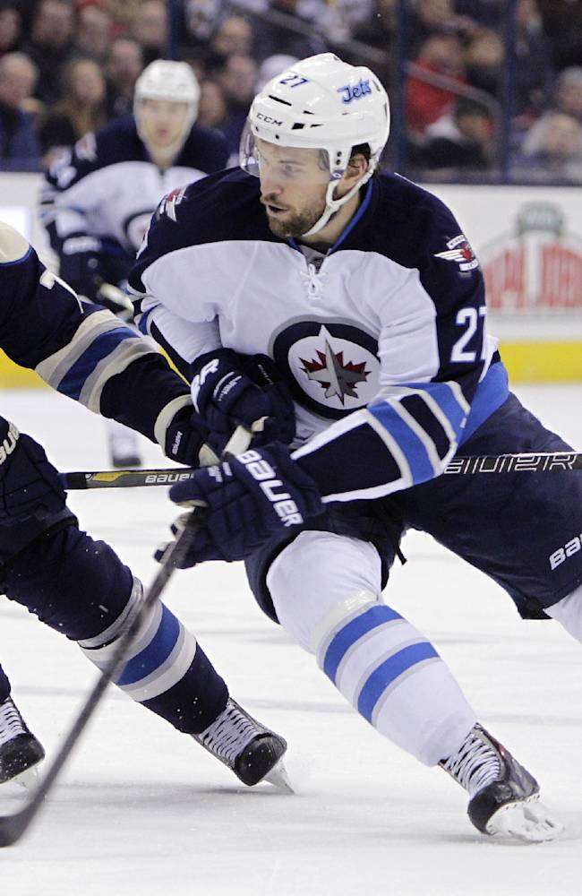 Kane's 3rd-period goal gives Jets 3-2 win over CBJ