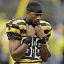 Pittsburgh Steelers wide receiver Emmanuel Sanders (88) warms up before an NFL football game between the Pittsburgh Steelers and Detroit Lions in Pittsburgh, Sunday, Nov. 17, 2013 The Associated Press