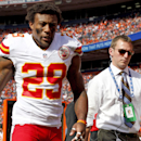 In this Sept. 14, 2014, file photo, Kansas City Chiefs strong safety Eric Berry (29) walks off the field during the second half of an NFL football game against the Denver Broncos in Denver. Berry is gearing up for a fight after a mass was found in his che
