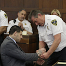 Aaron Hernandez sports neck tattoo at latest court hearing The Associated Press
