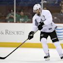 Dallas Stars' Tyler Seguin handles the puck during a team practice on opening day of NHL hockey training camp, Friday, Sept. 19, 2014, in Fort Worth, Texas The Associated Press