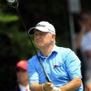 Roger Chapman drives on the first hole during the final round at the U.S. Senior Open golf tournament at Indianwood Golf and Country Club in Lake Orion, Mich., Sunday, July 15, 2012. (AP Photo/Carlos Osorio)