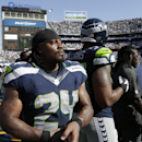Seattle Seahawks running back Marshawn Lynch (24) leaves the field with a minute left in an NFL football game while playing the San Diego Chargers during the fourth quarter Sunday, Sept. 14, 2014, in San Diego The Associated Press