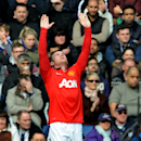 Manchester United's Wayne Rooney celebrates after scoring against West Brom during the English Premier League soccer match between West Bromwich Albion and Manchester United at The Hawthorns Stadium in West Bromwich, England, Saturday, March 8, 2014