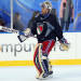 New York Rangers' goalie Henrik Lundqvist skate to the net during practice for the Winter Classic hockey game, Sunday, Jan. 1, 2012, in Philadelphia. The Rangers are slated to play the Philadelphia Flyers outdoors on Monday