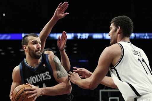 Timberwolves Nets Basketball