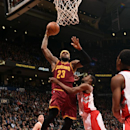 TORONTO, ON - MARCH 4: LeBron James #23 of the Cleveland Cavaliers dunks against the Toronto Raptors on March 4, 2015 at the Air Canada Centre in Toronto, Ontario, Canada. (Photo by Ron Turenne/NBAE via Getty Images)