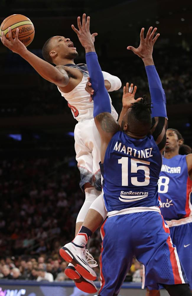 US routs Dominicans in exhibition as Rose rests