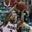 Arizona's Mark Lyons shoots the ball against Belmont during the first half of a second-round game in the NCAA college basketball tournament in Salt Lake City Thursday, March 21, 2013. (AP Photo/George Frey)