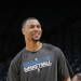 OAKLAND, CA - APRIL 9: Brandon Roy #3 of the Minnesota Timberwolves warms up before a game against the Golden State Warriors on April 9, 2013 at Oracle Arena in Oakland, California. (Photo by Rocky Widner/NBAE via Getty Images)