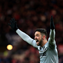 Burnley's Danny Ings gestures towards the linesman during their English Premier League soccer match between Sunderland and Burnley at the Stadium of Light, Sunderland, England, Saturday, Jan. 31, 2015