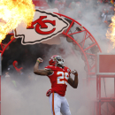 Kansas City Chiefs strong safety Eric Berry (29) enters the field prior to an NFL football game against the Seattle Seahawks in Kansas City, Mo., Sunday, Nov. 16, 2014. (AP Photo/Ed Zurga)
