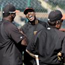 Bonds back in Giants uniform as camp coach The Associated Press