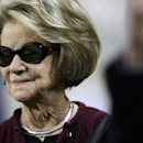 FILE - This Dec. 22, 2013 file photo shows Martha Ford, wife of Detroit Lions owner William Clay Ford, on the sidelines before an NFL football game between the Lions and New York Giants in Detroit. The Lions announced Monday, March 10, 2014, that Ford's interest in the team passes to Martha Ford, pursuant to