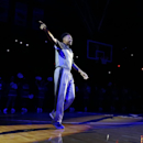 Duke's Jabari Parker is introduced during the team's Countdown to Craziness NCAA college basketball preseason event in Durham, N.C., Friday, Oct. 18, 2013. (AP Photo/Gerry Broome)