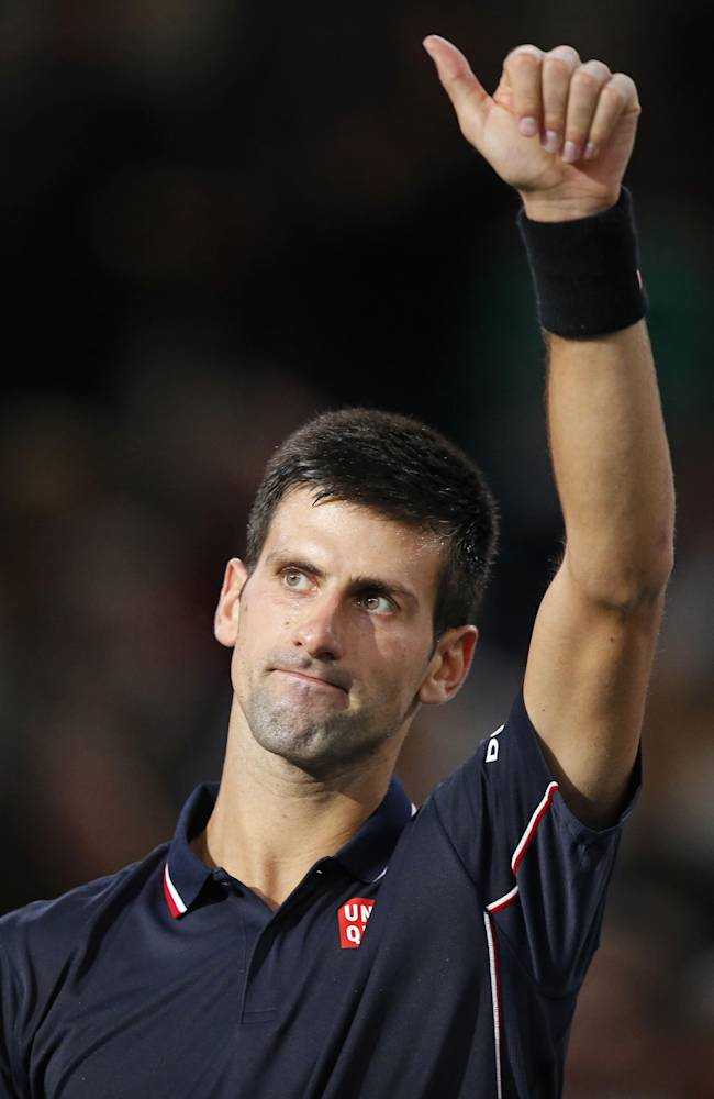 Djokovic wins 1st match since birth of his son
