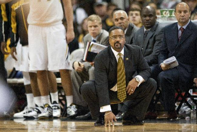 Missouri head coach Frank Haith watches his team play late during the second half of an NCAA college basketball game against Western Michigan, Sunday, Dec. 15, 2013, in Columbia, Mo. Missouri won 66-60