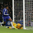 Chelsea's Loic Remy scores a goal during the English Premier League soccer match between Chelsea and Manchester City at Stamford Bridge, London, England, Saturday, Jan. 31, 2015. (AP Photo/Tim Ireland)