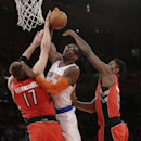 Knicks beat Raptors, who get No. 3 seed anyway (Yahoo Sports)