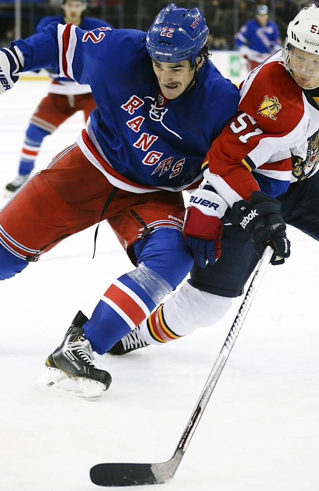 Rangers top slumping Panthers for 3rd straight win