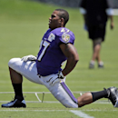 Baltimore Ravens running back Ray Rice stretches during an NFL football training camp, Saturday, July 26, 2014, in Owings Mills, Md The Associated Press