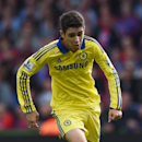 Chelsea's Oscar controls the ball during their English Premier League soccer match against Crystal Palace at Selhurst Park, London, Saturday, Oct. 18, 2014