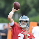Philadelphia Eagles' Mark Sanchez throws a pass during NFL football minicamp on Saturday, July 26, 2014, in Philadelphia The Associated Press