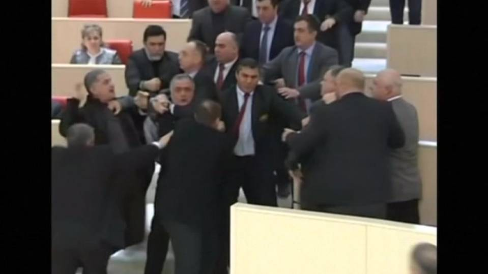 Brawl at Georgian parliament