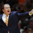 FILE - In this Monday, Nov. 3, 2014 file photo, Tennessee head coach Donnie Tyndall in the second half of an NCAA college basketball game against Pikeville in Knoxville, Tenn. The NCAA says Southern Mississippi's men's basketball program and former coach Donnie Tyndall have committed multiple violations, including arranging fraudulent academic credit, impermissible financial aid and obstructing the governing body's investigation, Friday, July 24, 2015. (AP Photo/Wade Payne, File)