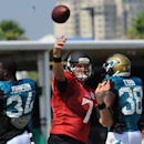 The Jacksonville Jaguars Quarterback Chad Henne training in full pads on Wednesday July 30, 2014, on the Florida Blue Health & Wellness Practice Fields at EverBank Field in Jacksonville, Fla The Associated Press
