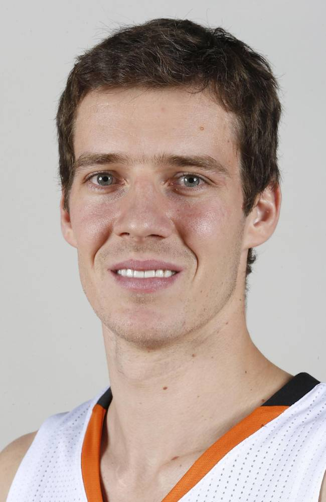 This Sept. 30, 2013 file photo shows Phoenix Suns NBA basketball player  Goran Dragic, of Slovenia, during the teams NBA  media day in Phoenix. Dragic has been honored as the NBA's Most Improved Player, Wednesday, April 23, 2014, after his career year helped lead the Suns to 23 more wins this season