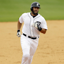 Detroit Tigers' Alex Avila rounds the bases after hitting a solo home run during the sixth inning of a spring exhibition baseball game against the Tampa Bay Rays in Lakeland, Fla., Friday, March 28, 2014 The Associated Press