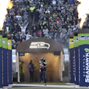 Seattle Seahawks running back Marshawn Lynch comes out of the tunnel at the start of an NFL football game against the San Francisco 49ers, Sunday, Dec. 14, 2014, in Seattle The Associated Press