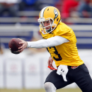 South squad quarterback Bryan Bennett, of Southeastern Louisiana, practices for the NCAA college football Senior Bowl, Thursday, Jan. 22, 2015, in Mobile, Ala The Associated Press