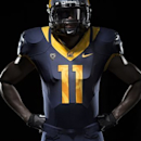 This image released by the University of California at Berkeley athletic department shows their new football uniform designed by Nike. On Wednesday April 10, 2013 the athletic department introduced Cal's new uniforms in football, volleyball and basketball designed by Nike, as well as a new look for the Golden Bear. (AP Photo/University of California Berkeley, Nike)
