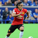 Manchester United's Radamel Falcao during the English Premier League soccer match between Leicester City and Manchester United at King Power Stadium, in Leicester, England, Sunday, Sept. 21, 2014