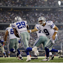 Dallas Cowboys' DeMarco Murray (29) takes a hand off from quarterback Tony Romo (9) during the second half of an NFL football game, Sunday, Oct. 19, 2014, in Arlington, Texas The Associated Press