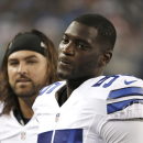 FILE - In this Aug. 28, 2014, file photo, Dallas Cowboys linebacker Rolando McClain is shown on the sidelines during the fist half of an NFL preseason football game against the Denver Broncos in Arlington, Texas. Rolando McClain has been suspended for the first four games for violating the NFL's substance abuse policy. The league said in a statement Thursday, July 2, 2015, that McClain would be suspended without pay and eligible to return for Dallas' Week 5 game against New England. (AP Photo/Brandon Wade, File)
