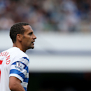 Queens Park Rangers' Rio Ferdinand is seen during the English Premier League soccer match between Queens Park Rangers and Hull City at Loftus Road, London, Saturday, Aug. 16, 2014