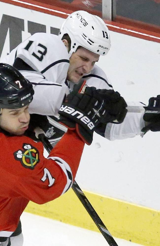 Raanta, Saad lead Blackhawks past Kings 1-0