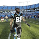 Carolina Panthers wide receiver Steve Smith (89) walks off the field after the second half of a divisional playoff NFL football game against the San Francisco 49ers, Sunday, Jan. 12, 2014, in Charlotte, N.C. The San Francisco 49ers won 23-10 The Associate