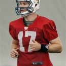Miami Dolphins quarterback Ryan Tannehill practices during NFL football training camp in Davie, Fla., Sunday, July 29, 2012. (AP Photo/Terry Renna)