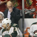 Minnesota Wild head coach Mike Yeo reacts as he watches his team during the second period of Game 5 of an NHL hockey Stanley