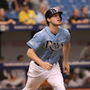 Tampa Bay Rays right fielder Wil Myers (9) during a baseball game between the Chicago White Sox and Tampa Bay Rays on Sunday, Sept. 21, 2014 in St. Petersburg, Fla. The Chicago White Sox won 10-5. (AP Photo/Reinhold Matay)