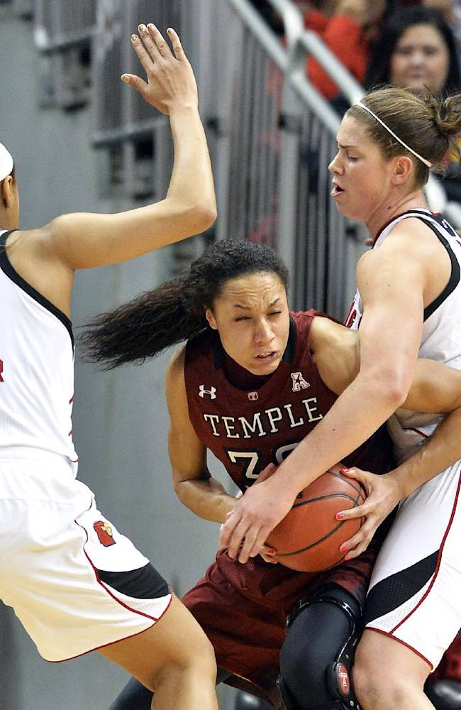 No. 4 Louisville women survive Temple, 60-50