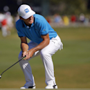Will MacKenzie reacts after missing a birdie putt on the 13th green during the third round of the McGladrey Classic golf tournament on Saturday, Oct. 25, 2014, in St. Simons Island, Ga. (AP Photo/Stephen B. Morton)
