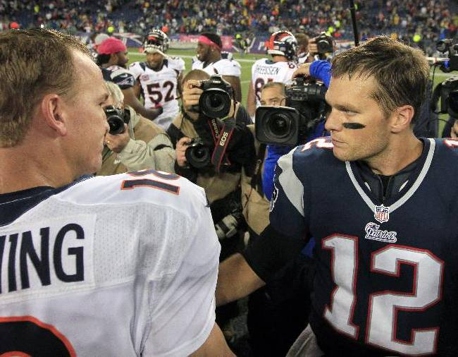 Brady, Manning meet again in matchup of great QBs