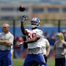 New York Giants' Victor Cruz practices during NFL football camp in East Rutherford, N.J., Tuesday, July 22, 2014 The Associated Press