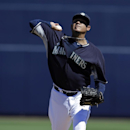 Seattle Mariners starting pitcher Felix Hernandez throws before an exhibition spring training baseball game against the Texas Rangers, Sunday, March 9, 2014, in Peoria, Ariz The Associated Press