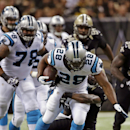 New Orleans Saints free safety Malcolm Jenkins tries to tackle Carolina Panthers running back Jonathan Stewart (28) in the second half of an NFL football game in New Orleans, Sunday, Dec. 8, 2013 The Associated Press